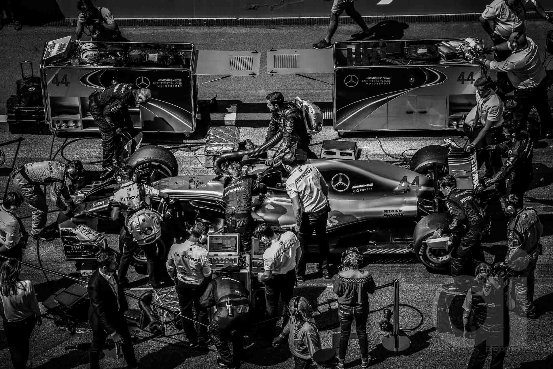 F1 in Monochrome
